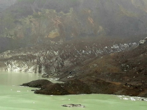 The Glaciar Negro of Cerro Tronador